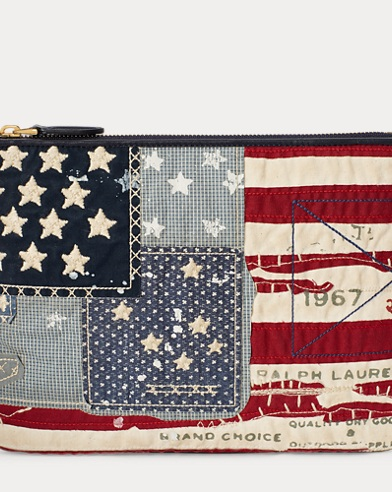 Flag Canvas Zip Pouch