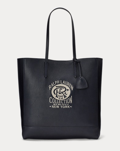 Embroidered Calfskin Tote Bag