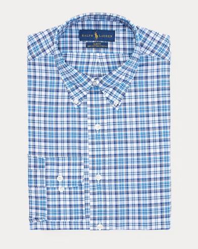 Slim Plaid Broadcloth Shirt