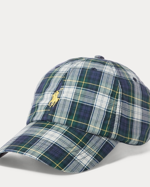 Plaid Cotton Cap by Ralph Lauren