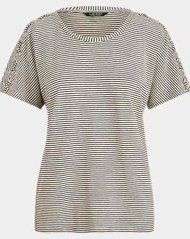 Lace-Up-Placket T-Shirt