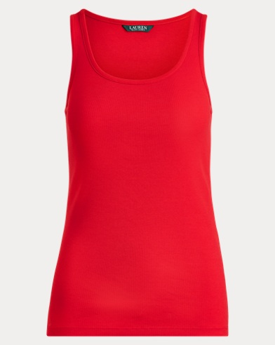 Ribbed Stretch Cotton Tank Top