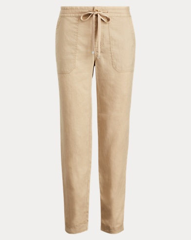 Straight Linen Pant