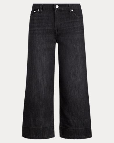 Frayed Wide-Leg Crop Jean