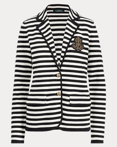 Striped Bullion Knit Blazer