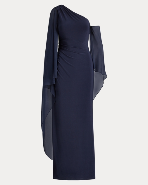 Georgette Cape Gown by Ralph Lauren