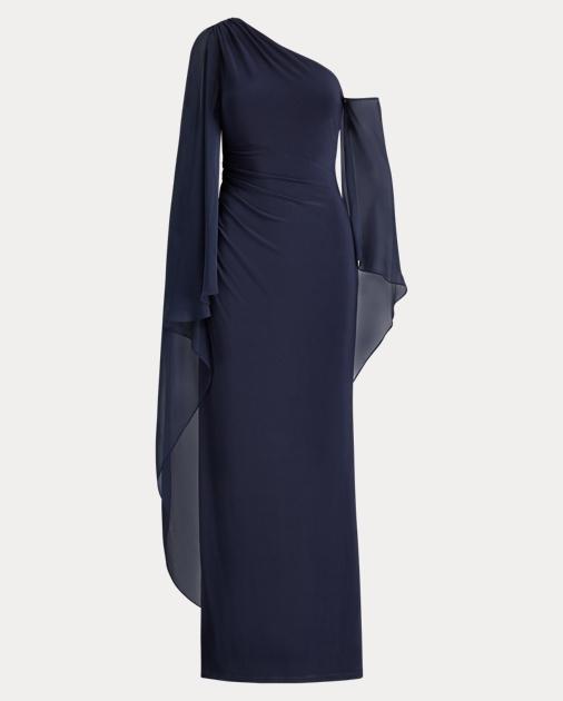 Georgette Cape Gown by Ralph Lauren