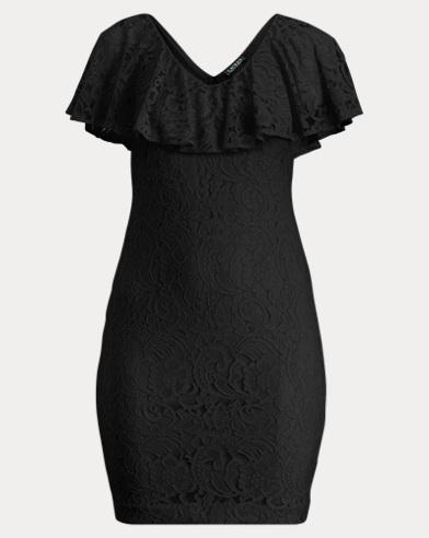 Lace-Overlay Dress