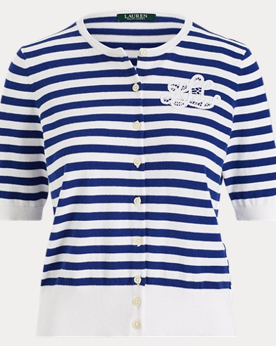 Monogram Striped Cardigan