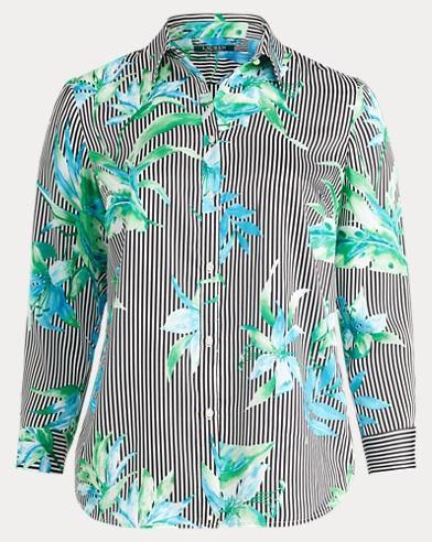 Floral Twill Button-Down Shirt