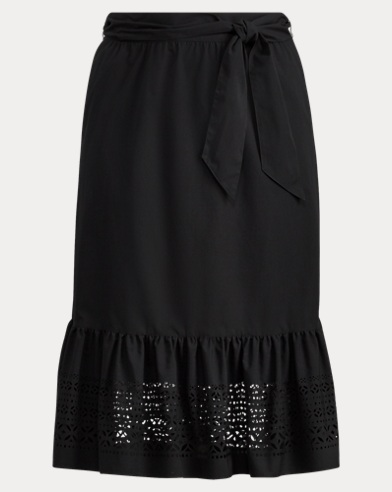 Poplin Midi Skirt