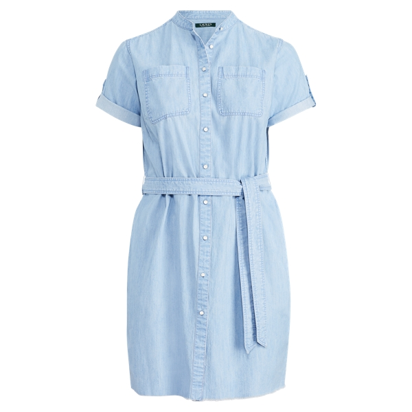 Ralph Lauren Denim Short-Sleeve Shirtdress Tide Pool Wash 22