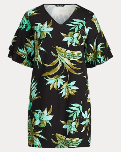 Print Ponte Shift Dress