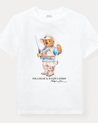 Big Kid Fishing Bear T-Shirt
