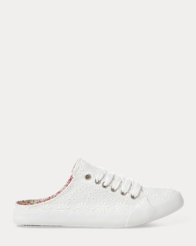 Callie Eyelet Sneaker Mule