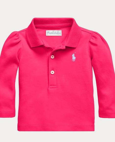 Cotton Long-Sleeve Polo Shirt