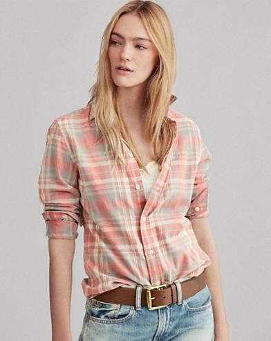 Classic Fit Cotton Plaid Shirt