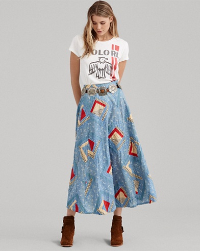 Patchwork Cotton Skirt