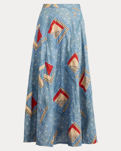 Patchwork Cotton Skirt