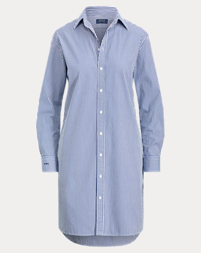 Monogram Cotton Shirtdress