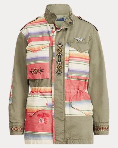 Embroidered Twill Field Jacket