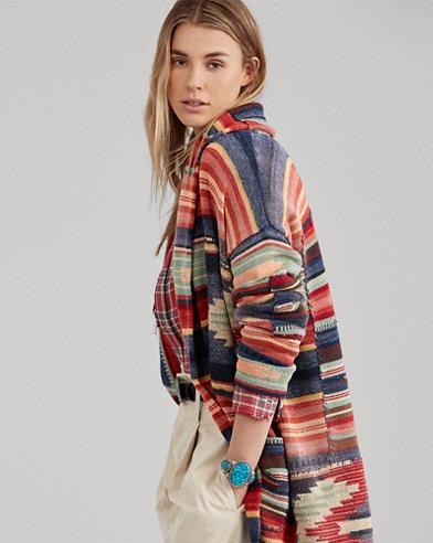 Printed Linen-Blend Sweater