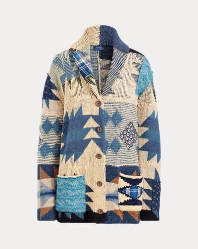 Patchwork Geometric Cardigan