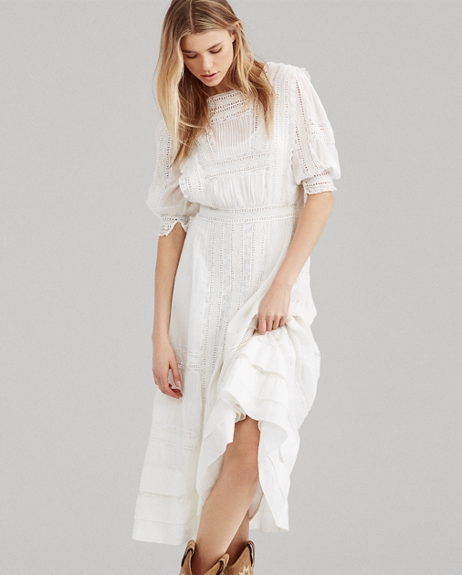 Cotton Voile Midi Dress by Ralph Lauren