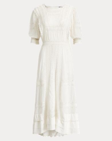 Cotton Voile Midi Dress