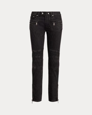 Moto Skinny Crop Jean