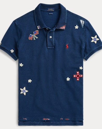 Beaded Classic Fit Polo Shirt