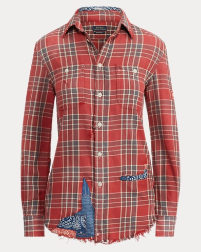 Patchwork Relaxed Fit Shirt