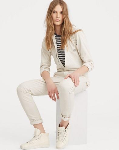 Cotton Herringbone Jumpsuit