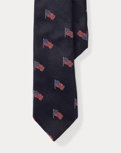 American Flag Silk Tie