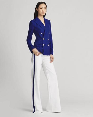 143 Striped Wide-Leg Jean