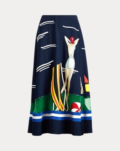 Trivelas Crepe Skirt