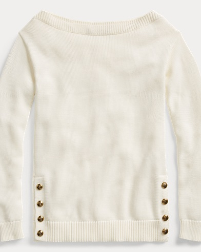 Cotton Boatneck Sweater