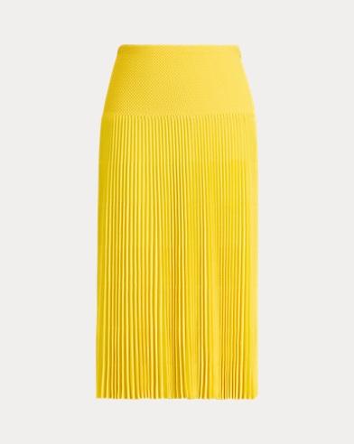 Pleated Straight Skirt
