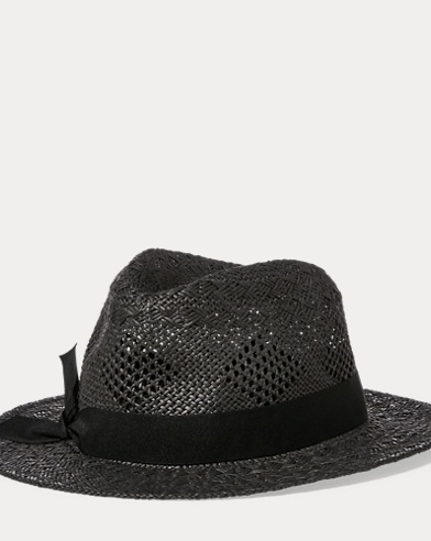 Pointelle Straw Fedora