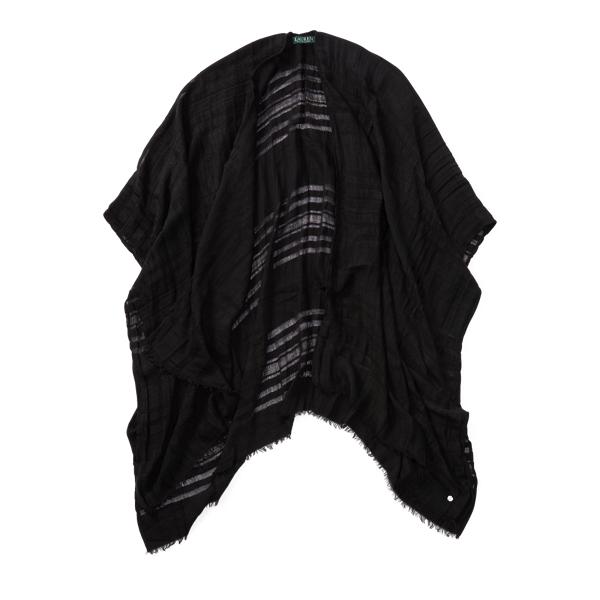 Ralph Lauren Sheer Blanket Scarf Black One Size