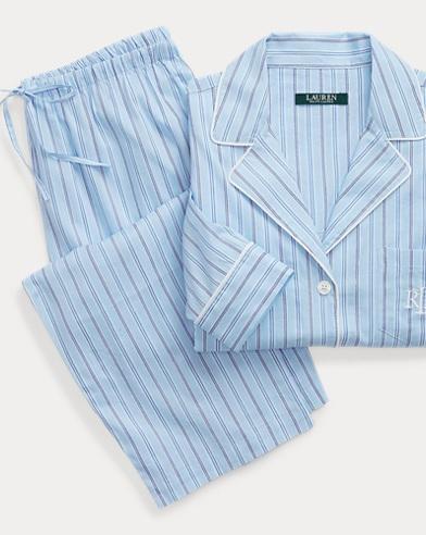 Cotton-Blend Pajama Set