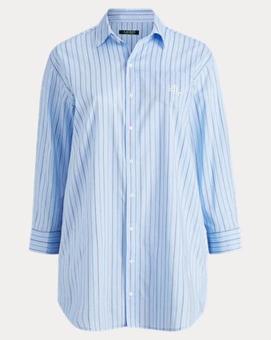 Cotton-Blend Sleep Shirt