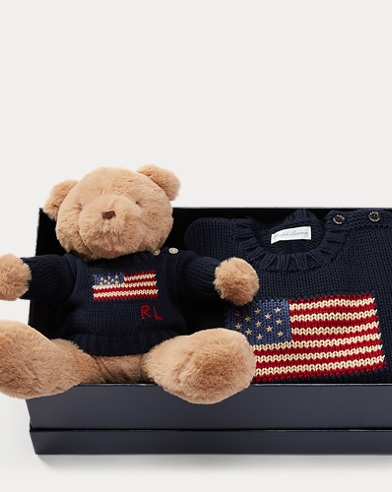 Flag Sweater & Bear Gift Set
