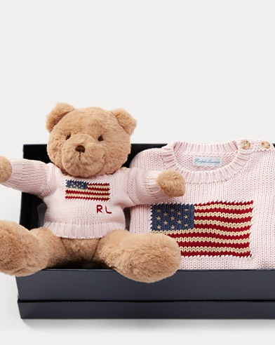 Flag Sweater & Polo Bear Set