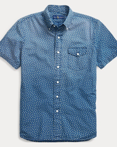 Classic Fit Print Cotton Shirt