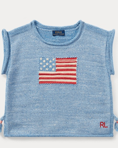 Flag Tassel Cotton Sweater