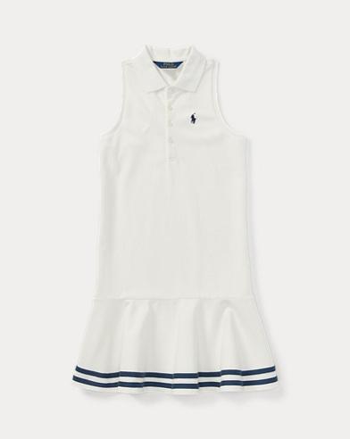 Striped Mesh Polo Dress