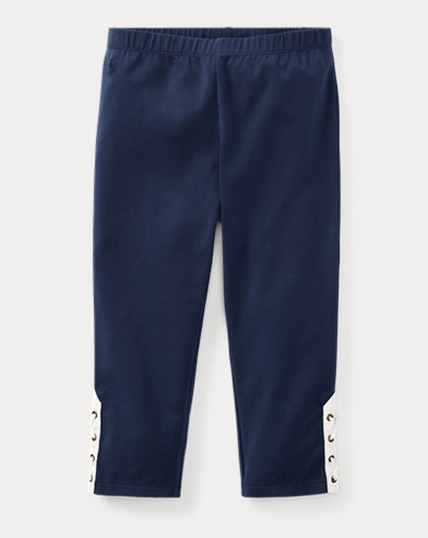 Lace-Up Jersey Capri Legging