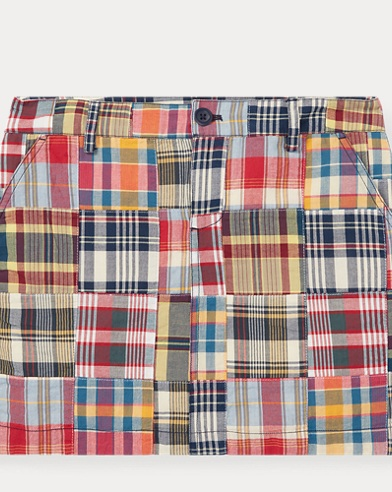 Patchwork Cotton Madras Skirt