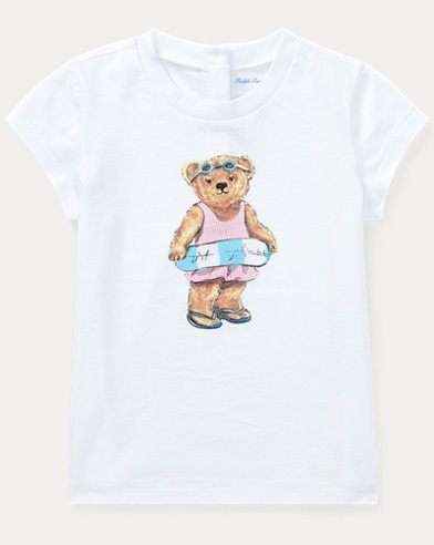 Beach Bear Cotton T-Shirt